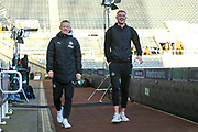 Matty Longstaff of Newcastle United (#43) and Sean Longstaff (#36) of Newcastle United during the Premier League match between Newcastle United and Manchester City at St. James's Park, Newcastle, England on 30 November 2019.