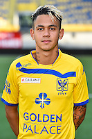 STVV's Edmilson Junior Paulo da Silva poses for the photographer during the 2015-2016 season photo shoot of Belgian first league soccer team STVV, Friday 17 July 2015 in Sint-Truiden.