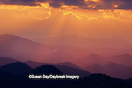 65845-00616 Sunset and mountains along Blue Ridge Parkway   NC