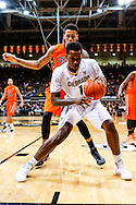 January 2nd, 2014:  Colorado Buffaloes redshirt freshman forward Wesley Gordon (1) takes control of the ball on the baseline in the first half of action in the NCAA Basketball game between the Oregon State Beavers and the University of Colorado Buffaloes at the Coors Events Center in Boulder, Colorado