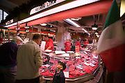 Hakaniemi market square. Rein deer meat.