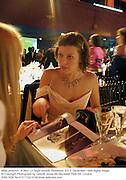 Milla Jovavich. A Very Liz Night benefit. Roseland. NY. 2 December 1999.digital image<br />© Copyright Photograph by Dafydd Jones 66 Stockwell Park Rd. London SW9 0DA Tel 010 7733 0108 www.dafjones.com