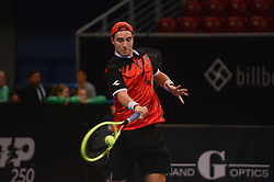 February 7, 2019 - Sofia, Bulgaria - J. Struff (GER). J. Struff (GER) vs S. Tsitsipas (GRE)  during Sofia Open 2019 at Arena Armeec Hall in the Bulgarian capital of Sofia, Bulgaria on February 07, 2019  (Credit Image: © Hristo Rusev/NurPhoto via ZUMA Press)