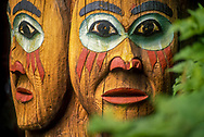 totem faces at Totem Bight Park