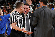 January 23, 2013: Head coach Mike Krzyzewski in action during the NCAA basketball game between the Miami Hurricanes and the Duke Blue Devils at the BankUnited Center in Coral Gables, FL. The Hurricanes defeated the Blue Devils 90-63.