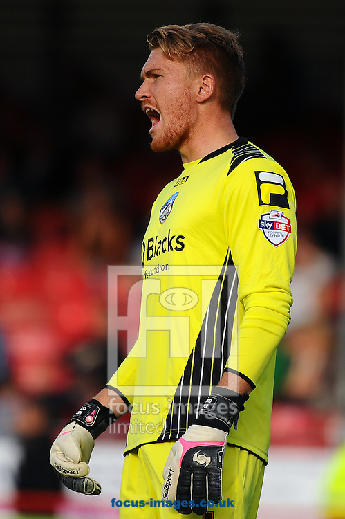 Picture by Seb Daly/Focus Images Ltd +447738 614630<br /> 28/09/2013<br /> Mark Oxley of Oldham Athletic during the Sky Bet League 1 match at Broadfield Stadium, Crawley.