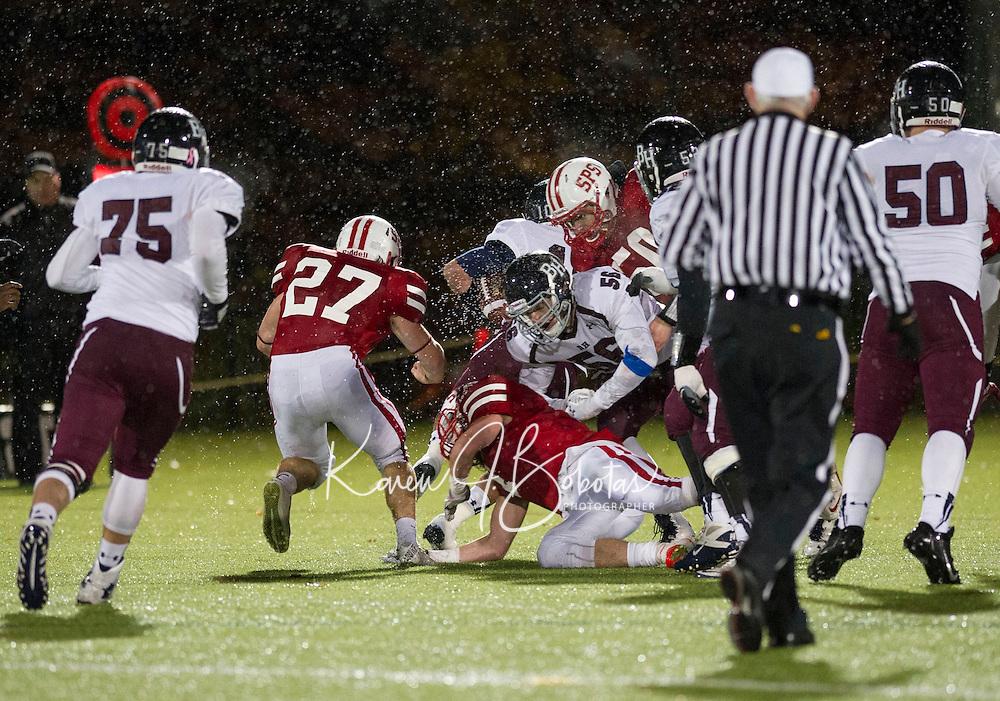 St Paul's School varsity Football with Belmont Hills.  ©2014 Karen Bobotas Photographer
