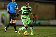 Forest Green Rovers Reece Brown(10) during the EFL Sky Bet League 2 match between Forest Green Rovers and Mansfield Town at the New Lawn, Forest Green, United Kingdom on 29 January 2019.