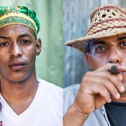 left: A Cuban &quot;Babalao&quot; that means &quot;father of the mysteries&quot; in the Yoruba language use in Santeria.<br />