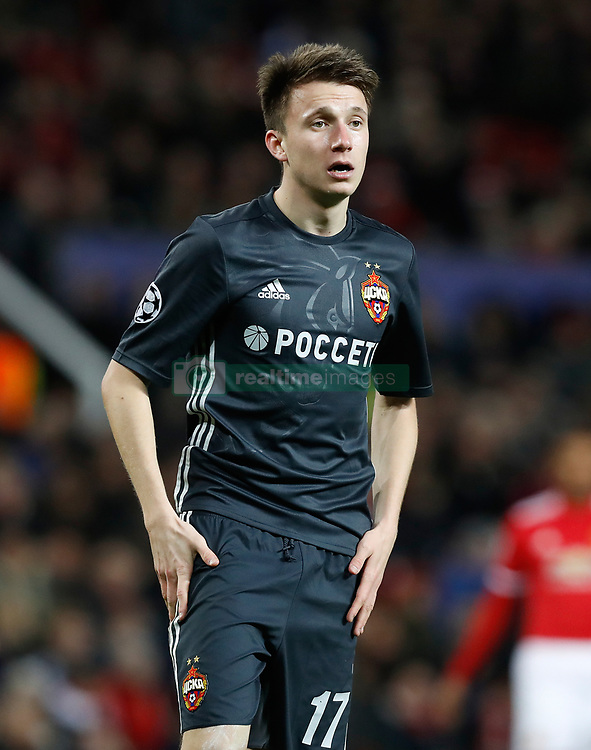 CSKA Moscow's Alexandr Golovin during the UEFA Champions League match at Old Trafford, Manchester. PRESS ASSOCIATION Photo. Picture date: Tuesday December 5, 2017