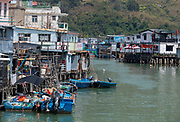 Tai O fishing village, Lantau Island, Hong Kong, China.