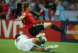 Giorgio Chiellini of Italy (4) and Fernando Torres of Spain (9) during the UEFA EURO 2008 Quarter-Final soccer match between Spain and Italy at Ernst-Happel Stadium, on June 22,2008, in Wien, Austria. Spain won after penalty shots 4:2. (Photo by Vid Ponikvar / Sportal Images)