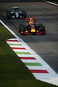 September 3, 2016: Max Verstappen, Red Bull , Nico Rosberg  (GER), Mercedes , Italian Grand Prix at Monza