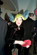 LULU GUINNESS, The Surrealist Ball in aid of the NSPCC. Hosted by Lucy Yeomans and Harry Blain. Banqueting House. Whitehall. 17 March 2011. -DO NOT ARCHIVE-© Copyright Photograph by Dafydd Jones. 248 Clapham Rd. London SW9 0PZ. Tel 0207 820 0771. www.dafjones.com.