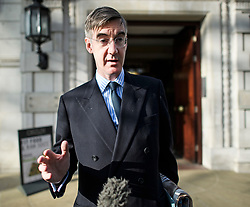 © Licensed to London News Pictures. 03/04/2019. London, UK. JACOB REES-MOGG is seen leaving his home in Westminster, London. British Prime Minster Theresa May has offered to work with Labour Party leader Jeremy Corbyn, in an attempt to pass a deadlock in the commons on her withdrawal agreement. Photo credit: Ben Cawthra/LNP