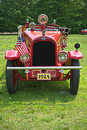 Old Westbury, New York, USA. June 2, 2019. 1924 vintage Larabee fire truck is at the 53rd Annual Spring Meet Antique Car Show, sponsored by the Greater NY Region (NYGR) of the Antique Automobile Club of America (AACA), at Old Westbury Gardens, a Long Island Gold Coast estate.