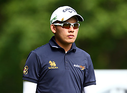 May 25, 2017 - Virginia Water, United Kingdom - Phachara Khongwatmai of THA.during 1st Round for the 2017 BMW PGA Championship on the west Course at Wentworth on May 25, 2017 in Virginia Water,England  (Credit Image: © Kieran Galvin/NurPhoto via ZUMA Press)