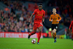 LIVERPOOL, ENGLAND - Saturday, January 28, 2017: Liverpool's Oviemuno Ovie Ejaria in action against Wolverhampton Wanderers during the FA Cup 4th Round match at Anfield. (Pic by David Rawcliffe/Propaganda)