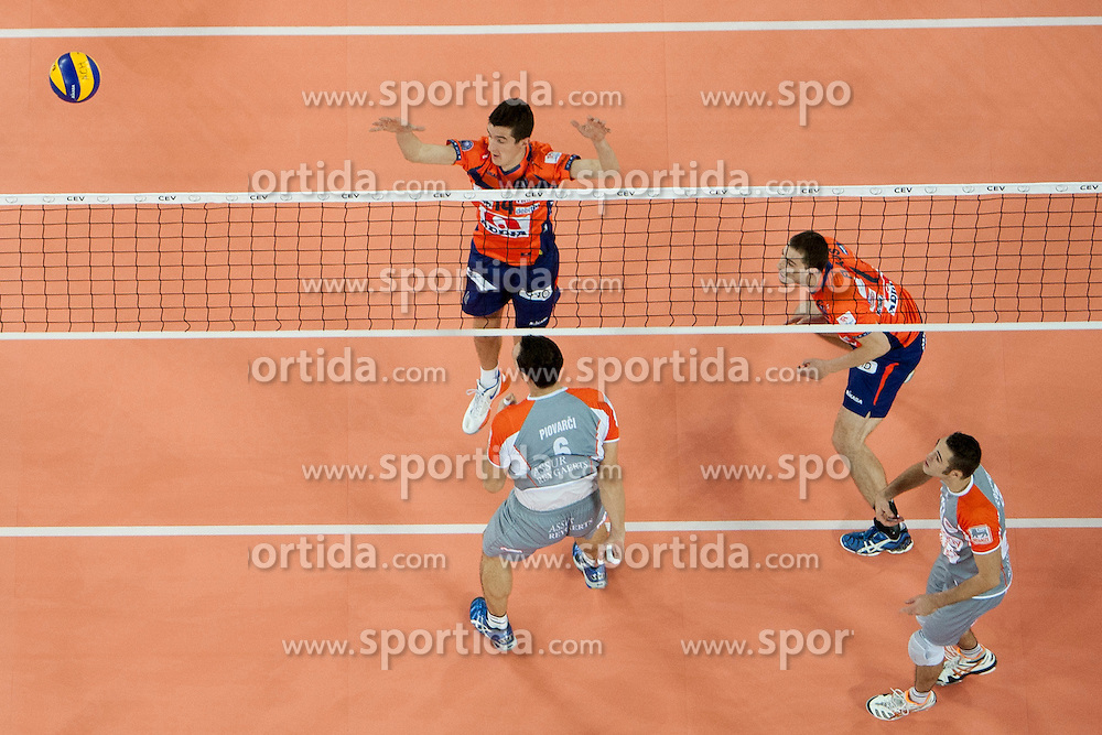 Milan Rasic #14 of ACH Volley during volleyball match between ACH Volley (SLO) and Euphony Asse-Lennik (BEL) in 3rd Leg of Pool D of 2013 CEV Champions League on November 14, 2012 in Arena Stozice, Ljubljana, Slovenia. (Photo By Urban Urbanc / Sportida)