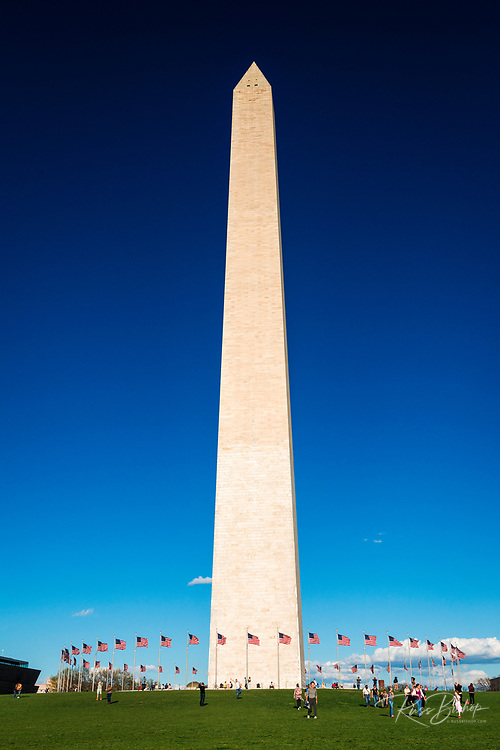 Tourists at the Washington Monument, Washington, DC USA