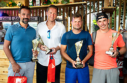 Alen Horvat, Uros Mesojedec, Klemen Kadivnik and Ales Macek at Trophy ceremony of RVO at Day 10 of ATP Challenger Zavarovalnica Sava Slovenia Open 2019, on August 18, 2019 in Sports centre, Portoroz/Portorose, Slovenia. Photo by Vid Ponikvar / Sportida