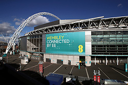 A general view of Wembley Stadium prior to the 2018 FIFA World Cup Qualifying, Group F match at Wembley Stadium, London. PRESS ASSOCIATION Photo. Picture date: Thursday October 5, 2017. See PA story SOCCER England. Photo credit should read: Mike Egerton/PA Wire. RESTRICTIONS: Use subject to FA restrictions. Editorial use only. Commercial use only with prior written consent of the FA. No editing except cropping.
