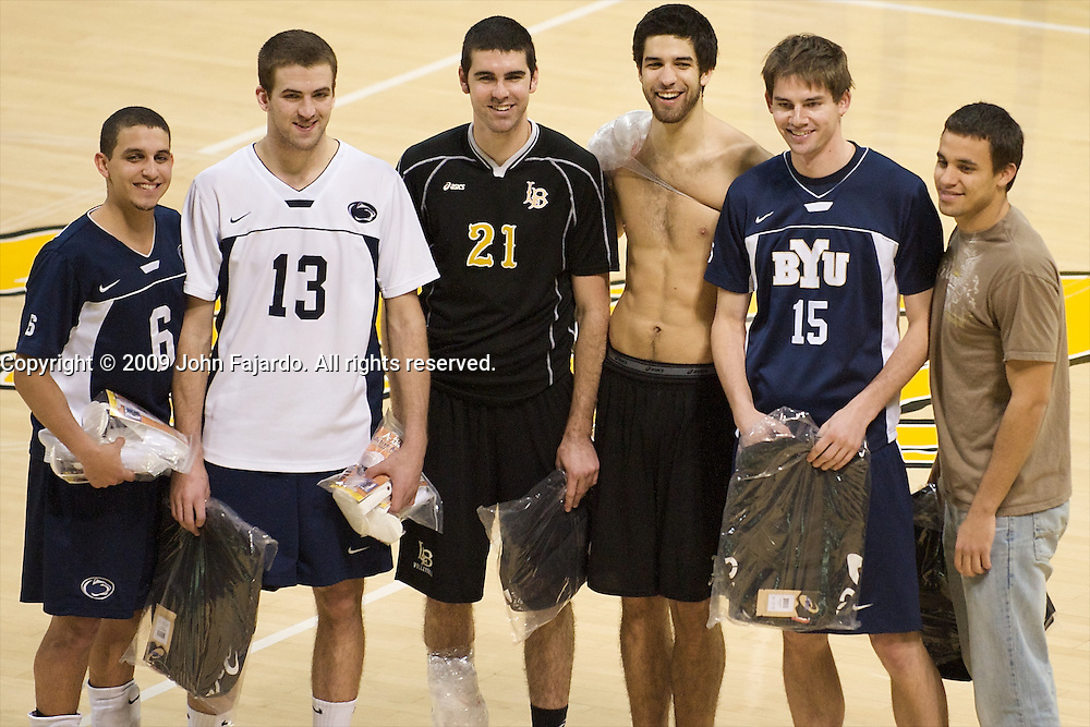2009 Active Ankle All Tournament Team, left to right: Penn State, Dennis Del Valle, Ryan Sweitzer, Long Beach State, Dan Alexander, Dean Bittner, BYU, Andrew Stewart, Yamil Perez.  Not pictured IPUFW, Mike Morici