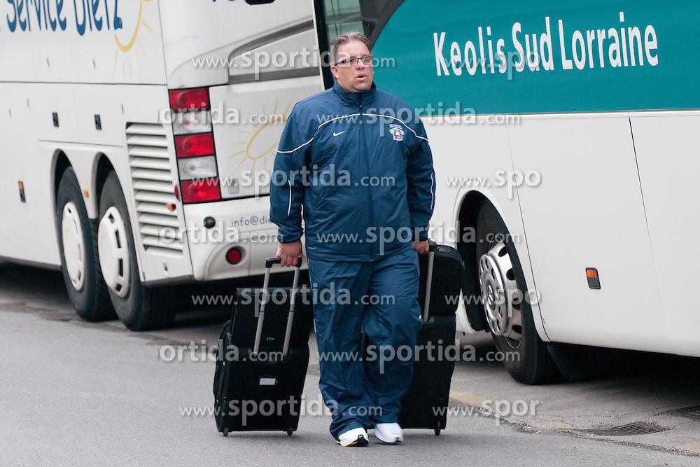 Diko Stevic at departure of Slovenian national team to Hockey IIHF WC 2011 in Bratislava, Slovakia, on April 28, 2011 in M Hotel, Ljubljana, Slovenia. (Photo by Matic Klansek Velej / Sportida)