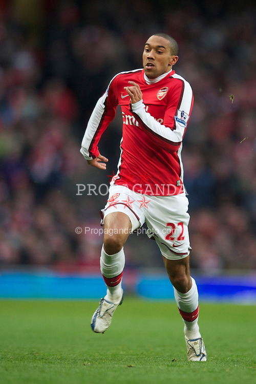 LONDON, ENGLAND - Sunday, January 31, 2010: Arsenal's Gael Clichy during the Premiership match at the Emirates Stadium. (Photo by Chris Brunskill/Propaganda)