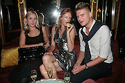 EMILY MADDICK, OLIVIA INGE AND NATHAN KAY, Agent Provocateur celebrate the launch of Agent Provocateur Maitresse Gold Edition. The Grill Room. Cafe Royal London. 3 October 2007. -DO NOT ARCHIVE-© Copyright Photograph by Dafydd Jones. 248 Clapham Rd. London SW9 0PZ. Tel 0207 820 0771. www.dafjones.com.