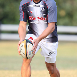is pictured during the Sharks training session at the Absa Stadium on Tuesday 27th April 2010 in Durban, South Africa. . Photo by Steve Haag / Gallo Images