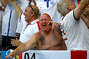 England fans celebrate during the Round of 16 Euro 2016 match between England and Iceland at Stade de Nice, Nice, France on 27 June 2016. Photo by Andy Walter.