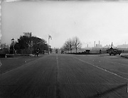 03/12/1952<br /> 12/03/1952<br /> 12 December 1952<br /> View of Parkgate Street, Dublin with Kingsbridge (Sean Heuston Bridge) on right. Image for Maurice L. Clifford Solicitors for accident case.