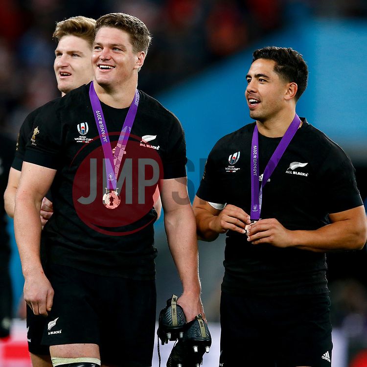 Scott Barrett of New Zealand (All Blacks) during the Bronze Final match between New Zealand and Wales Mandatory by-line: Steve Haag Sports/JMPUK - 01/11/2019 - RUGBY - Tokyo Stadium - Tokyo, Japan - New Zealand v Wales - Bronze Final - Rugby World Cup Japan 2019