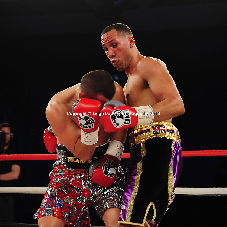 .James DeGale MBE v Stjepan Bozic. WBC Silver Super Middleweight  Title. Glow, Bluewater, Dartford, Kent, UK on 8th June 2013. Promoter: Hennessy Sports. Mandatory Credit: © Leigh Dawney