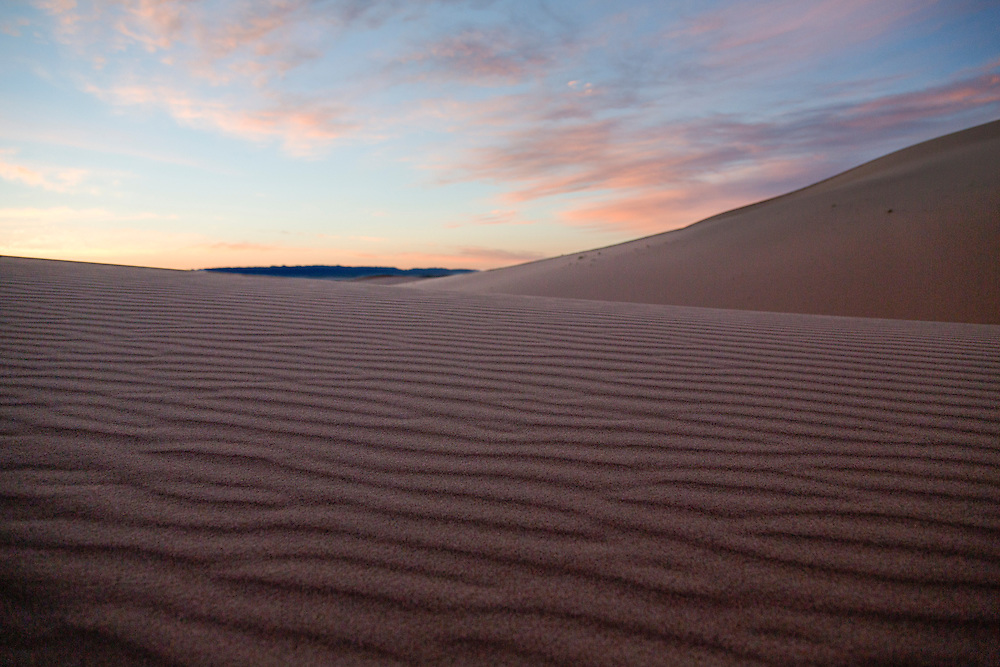 Sand dunes at sunrise in the Gobi Desert on July 29, 2012. © 2012 Tom Turner Photography