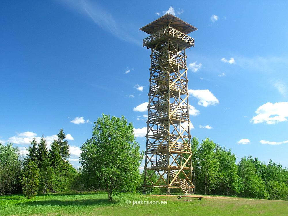 Harimäe Watchtower in Valga County, Estonia