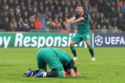 Tottenham Hotspur's Harry Kane appears dejected