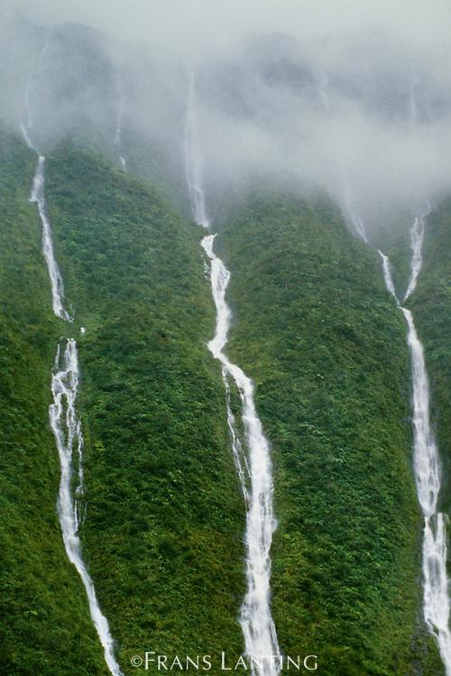 Waterfalls, Wai Ale Ale, Kauai, Hawaii