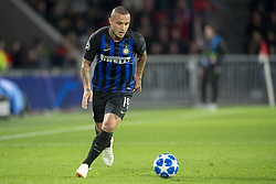 October 4, 2018 - Eindhoven, Netherlands - Radja Nainggolan of Inter controls the ball during the UEFA Champions League Group B match between PSV Eindhoven and FC Internazionale Milano at Philips Stadium in Eindhoven, Holland on October 3, 2018  (Credit Image: © Andrew Surma/NurPhoto/ZUMA Press)