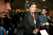 Tempe, AZ, USA, October 14th 2004: The third and last Presidential Debate held at Arizona State University.<br /> <br /> New Mexico Governor Bill Richardson (D) commenting on the debate.<br /> <br />   *** Local Caption ***
