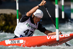 Weijian ZOU of China during the Canoe Single (C1) Men SemiFinal race of 2019 ICF Canoe Slalom World Cup 4, on June 28, 2019 in Tacen, Ljubljana, Slovenia. Photo by Sasa Pahic Szabo / Sportida