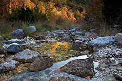 Stock photo of rocks in and along a small portion of a stream  in the Texas Hill Country