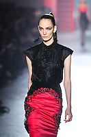 Zuzanna Bijoch walks down runway for F2012 Jason Wu's collection in Mercedes Benz fashion week in New York on Feb 10, 2012 NYC