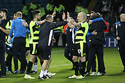 Huddersfield Town midfielder, on loan from Manchester City, Aaron Mooy (10) celebrates with teammates during the EFL Sky Bet Championship play off second leg match between Sheffield Wednesday and Huddersfield Town at Hillsborough, Sheffield, England on 17 May 2017. Photo by John Potts.