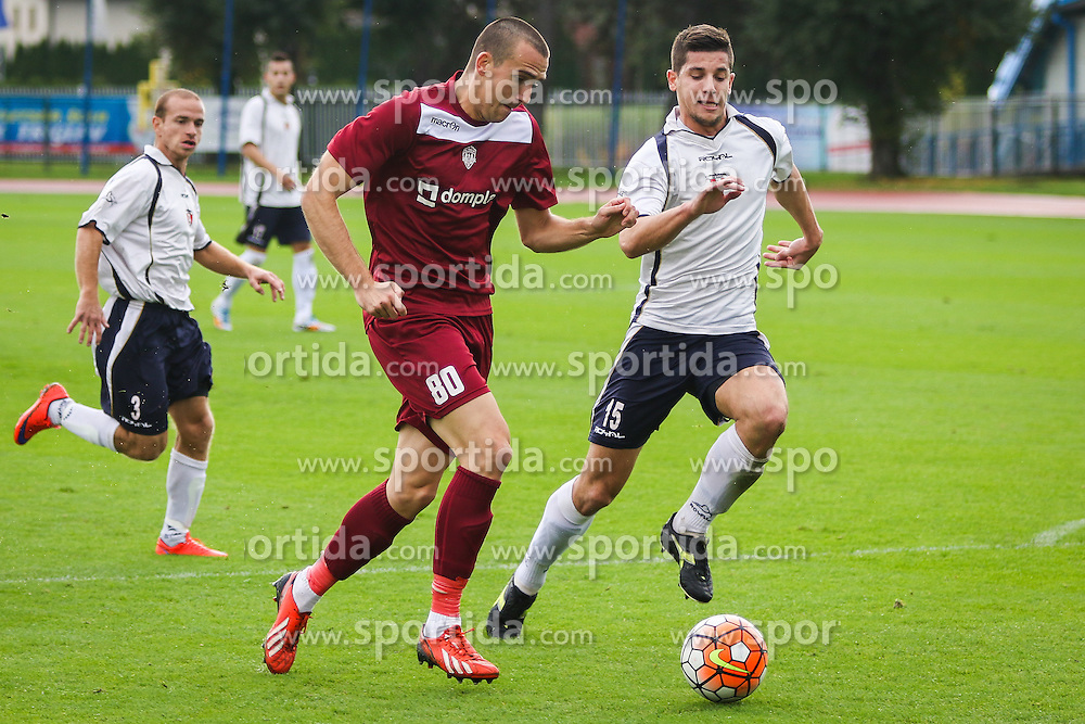 Players during football match between NK Triglav Kranj and NK Kranj  in 10th Round of 2. SNL, on October 11, 2015 in Sports center Kranj,Kranj, Slovenia. Photo by Ziga Zupan / Sportida