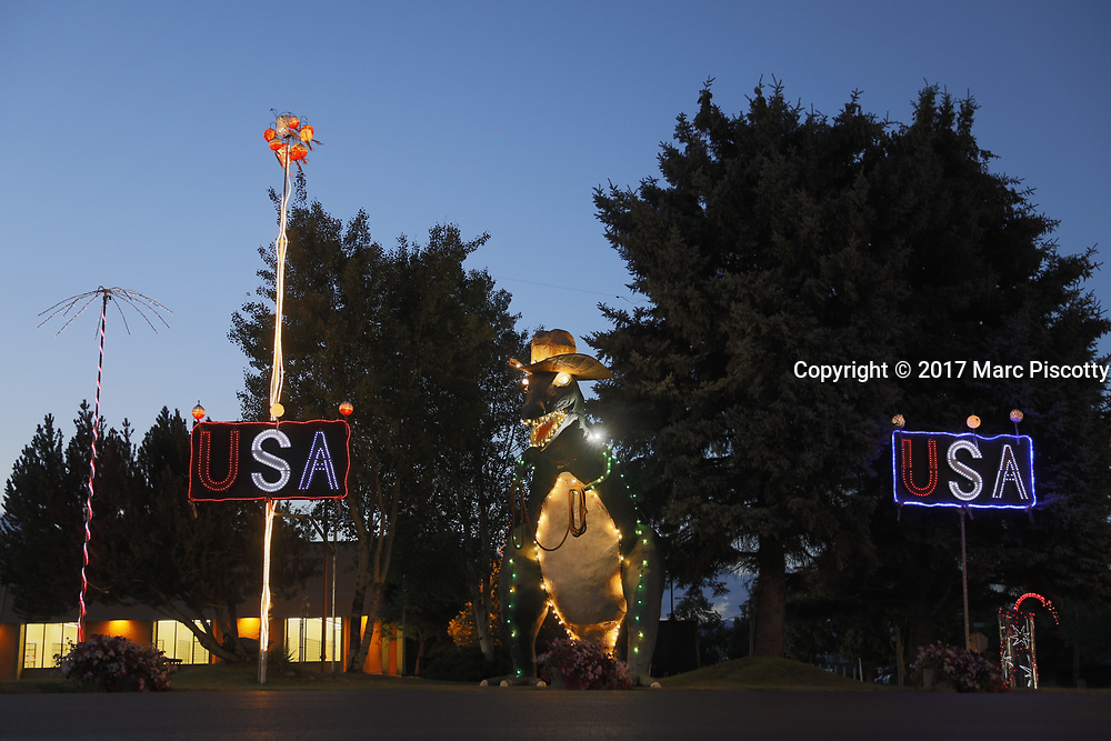 SHOT 6/28/17 9:22:14 PM - Vernal, the county seat and largest city in Uintah County is in northeastern Utah, United States, about 175 miles east of Salt Lake City and 20 miles west of the Colorado border. As of the 2010 census, the city population was around 9,000 people. Includes images of the Utah Field House of Natural History State Park Museum, Vernal Brewing Company and SUP on the reservoir at Red Fleet State Park. (Photo by Marc Piscotty / © 2017)