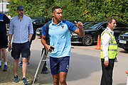 AFC Wimbledon defender Terell Thomas (6) arriving during the EFL Sky Bet League 1 match between AFC Wimbledon and Wycombe Wanderers at the Cherry Red Records Stadium, Kingston, England on 31 August 2019.