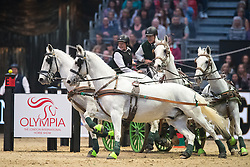 Naprous Daniel, GBR, Amigo Don, Nilus, Rialto Fzav Claricia, Viktor <br /> FEI World Cup Driving Leg presented by Dodson & Horrell<br /> Olympia Horse Show -London 2016<br /> © Hippo Foto - Jon Stroud<br /> 16/12/16