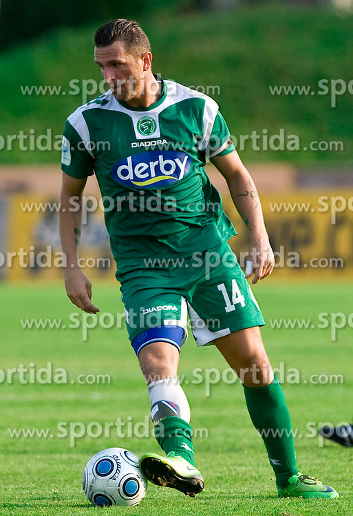 Sebastjan Cimirotic of Olimpija  at football match between NK Olimpija vs Hit Gorica in 11th Round of Prva liga 2009 - 2010,  on September 27, 2009, in ZSD Ljubljana, Ljubljana, Slovenia.  (Photo by Vid Ponikvar / Sportida)